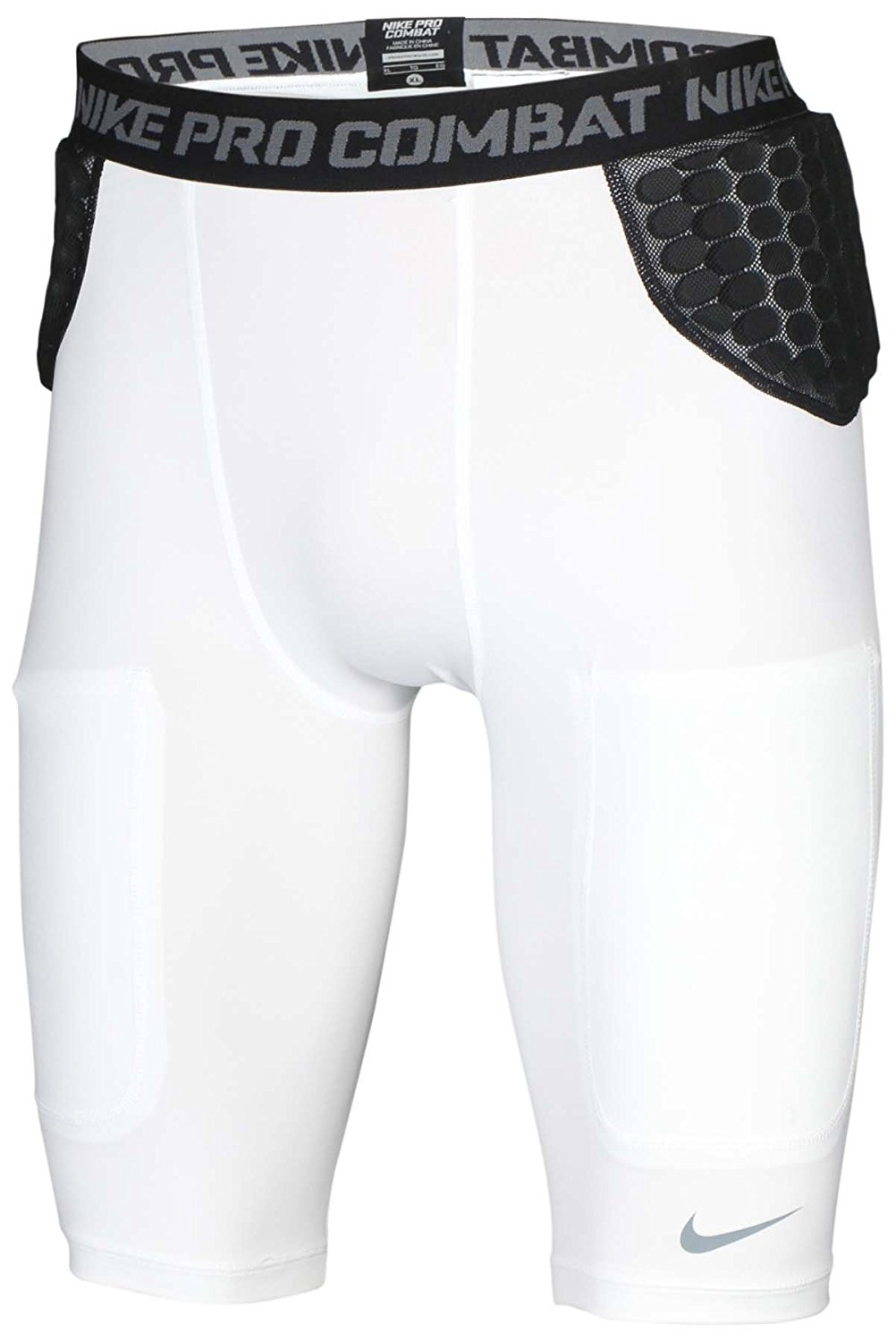 799835921881 Get Quotations · Nike Men s Pro Combat Hyperstrong Padded Football Shorts -White Black
