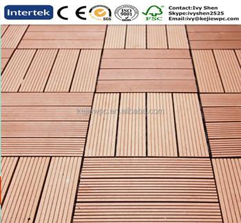 DIY Tile WPC Outdoor Decking Floor Plastics Wood Texture Waterproof New Material