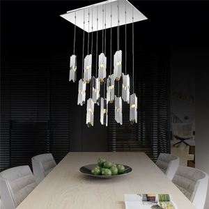 High Quality Dinning Room Modern Agate Crystal Glass Chandelier