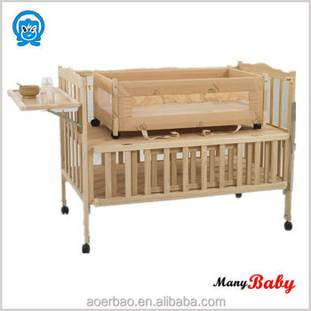 2015 Nontoxic Environmental Wooden Baby Cribs,Wooden Baby Cot Bed,Wood Baby  Cradle Bed
