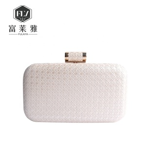 China wholesale latest women pu leather evening chain clutch bag