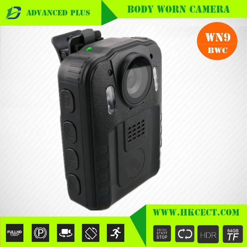 One Touch record small button 1080p hd 30 fps policebody-cameras