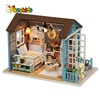 2018 Kids best gifts diy wooden dollhouse miniatures with led light W06A343
