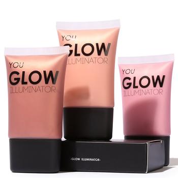 Face Gold Highlighter Makeup Liquid Glow Illuminator Face Contour