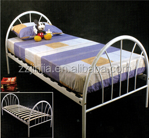 Modern style cheap metal single bunk bed