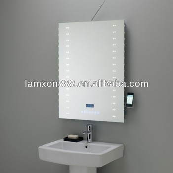 High End Touch Screen Bathroom Mirror With Dab Function And Led Lighting