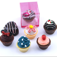 Private Label 6 Color Cute Cupcake Moisturizing Lip Gloss