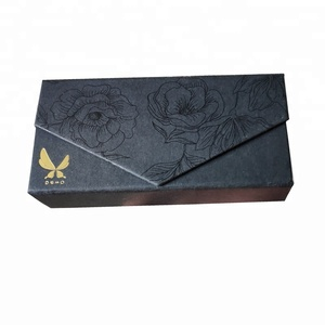 Black UV printing folding Packaging Luxury Cardboard Sunglass Box