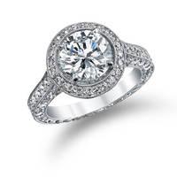 Gemnel discount platinum diamond semi mount ladies wedding rings