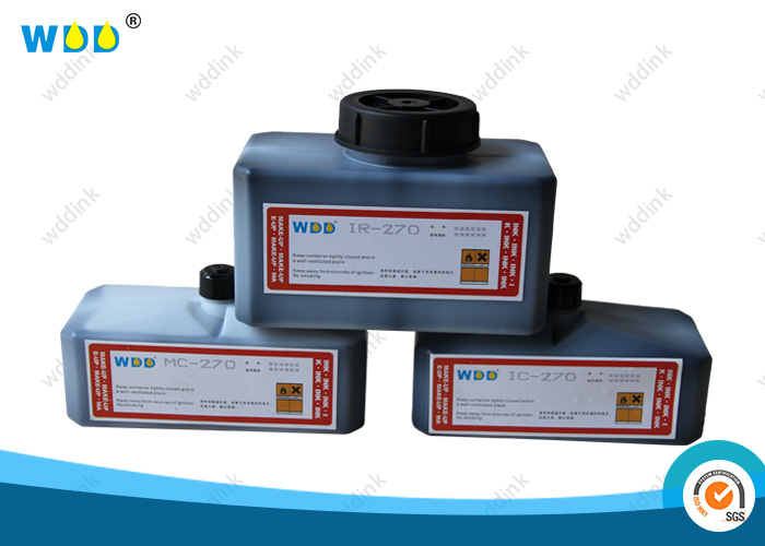 MEK Based CIJ Inkjet printer Ink IR-270BK 1200ML