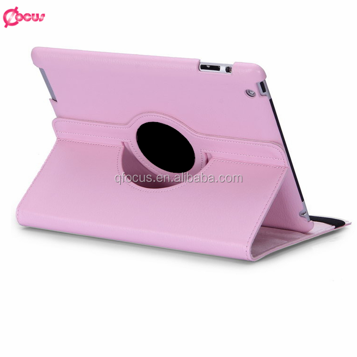 Hot sale business leather case for ipad 2 3 4 5 for ipad air 2 leather wallet cases 360 degree rotation