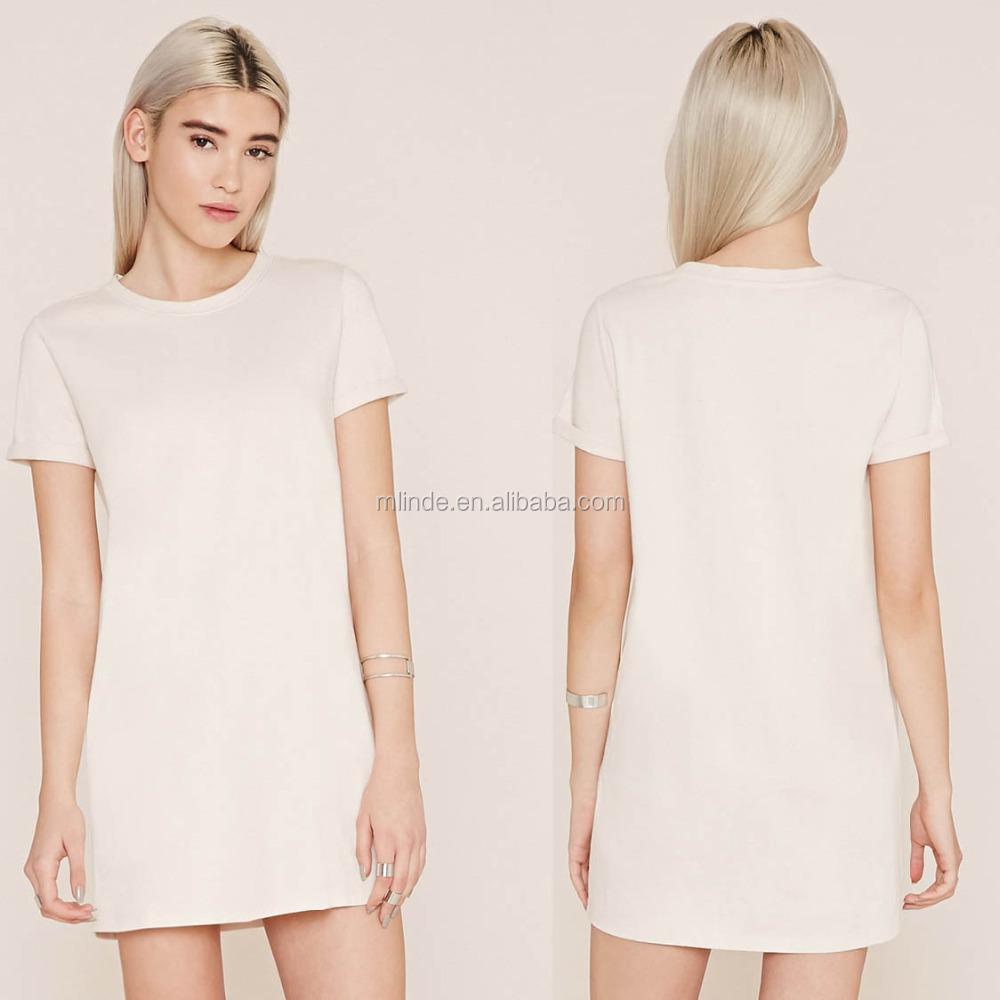 plain white t shirt dress
