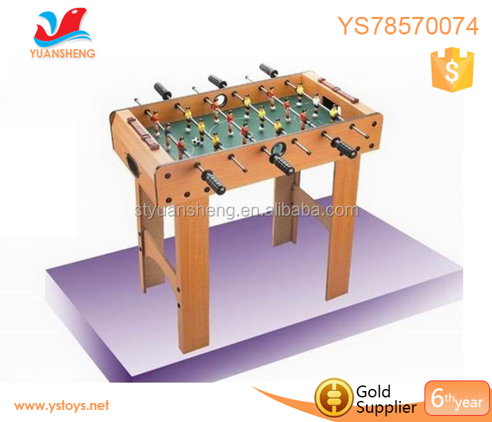 Alibaba sport mini 6 goalie rod soccer table game with 1 pcs football new foosball wood socer table