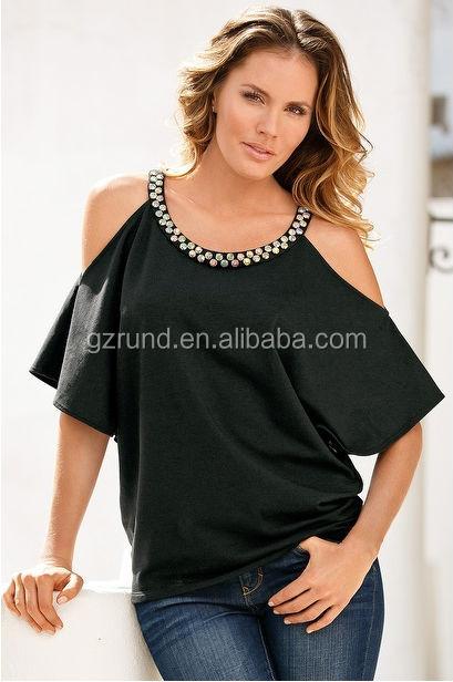 china fabricante de roupas modelos blusa mulheres novo frisado design pescoo de peru