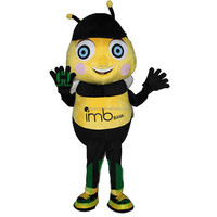 HI CE High Quality Custom Bee Shaped Mascot for Adult Lovely Cartoon Character Bee Image Mascot Costume