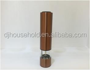 Salt Mill Stainless Steel Electric Pepper Grinder with Copper Plating K4199