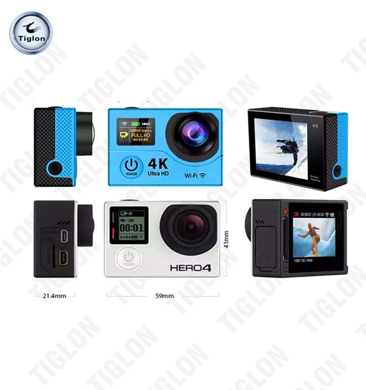 4k Ultra Definition Wifi Sport Action Cam with Dual Screen display