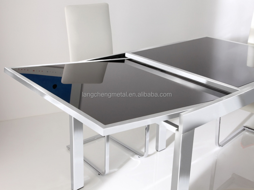 Double-stacked dining Table extension type Slide(table extension mechanism)