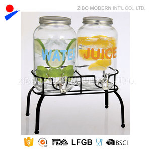 High quality reasonable price of wholesale glass beverage dispenser for juice