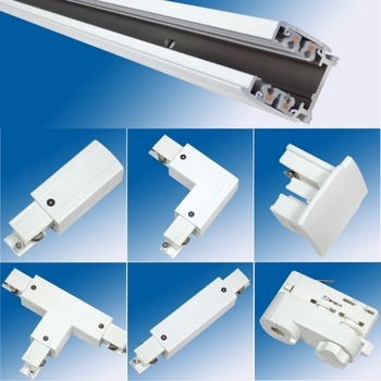 aluminum 6063 strong 3 wire track rail 3 phase 4 wire track for led track lights buy 4 wire track 3 phase 4 wire track 3 wire track product on