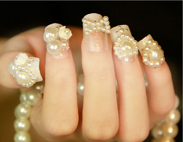 Beautiful New Design Bride Wedding 3d Nail Art Tip Sticker - Buy ...