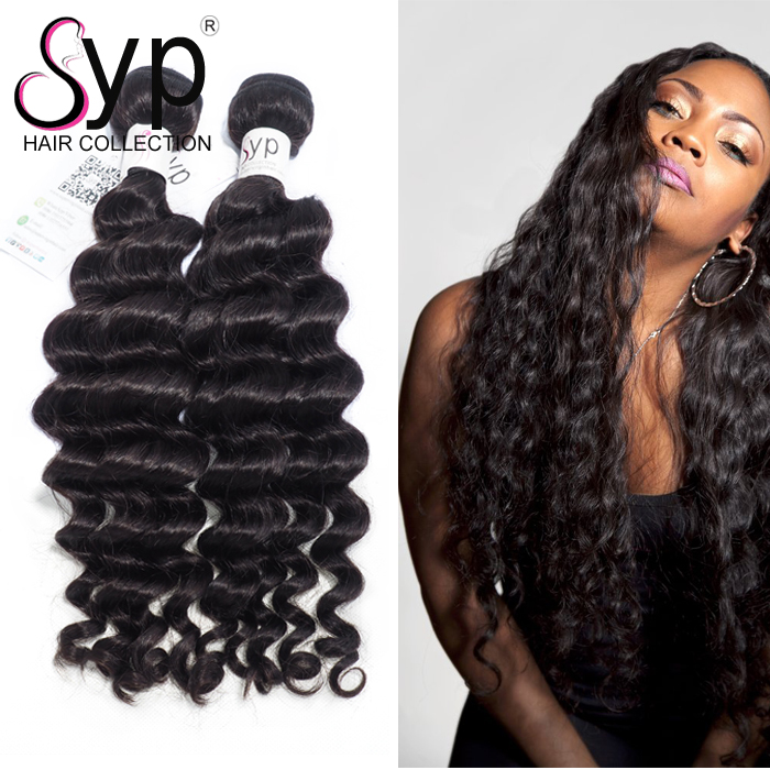 Paypal Accepted Brazilian Hair Deep Wave Weave Double Weft Simplicity Dropship Free Shipping Extension With Pink Private Label