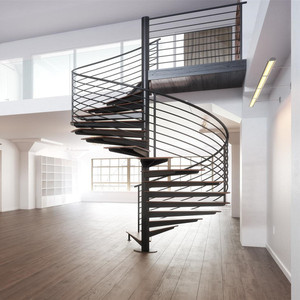 Movable Wood Tread Stairs Spiral Stairs Grill Design