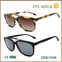 Acetate material simple design unisex sunglasses ,have stock minimum quantity solar