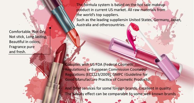 Made In China Cosmetics Matte Liquid Lipsticks Packaging Non-toxic ...