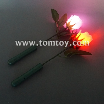 Tomtoy Plastic LED Flashing Pink Rose