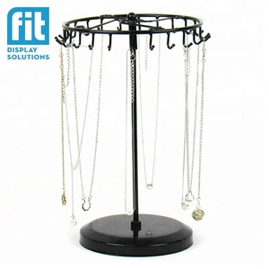 metal floor rotate jewelry display stand