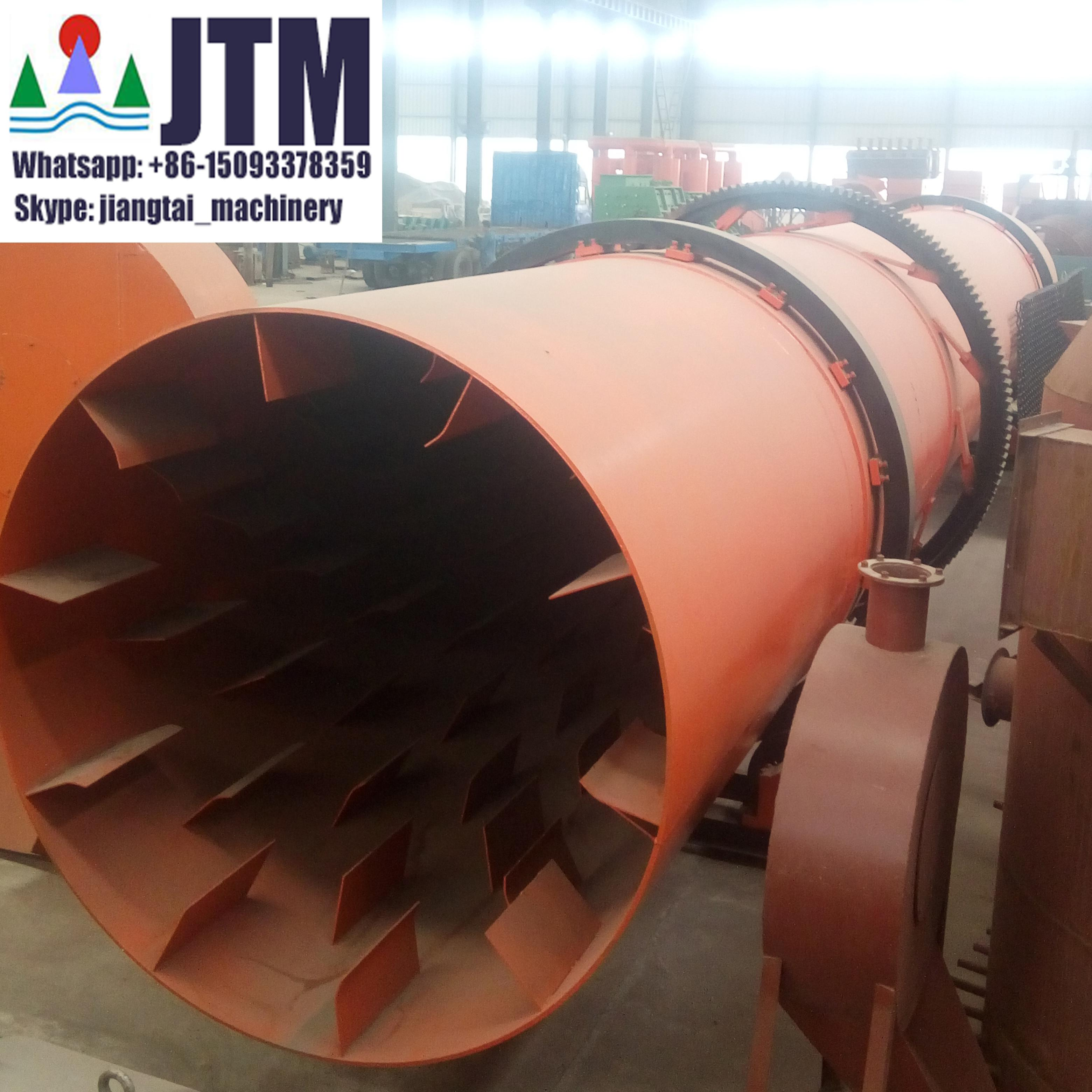 Jiangtai natural gas fuel rotary drum dryer