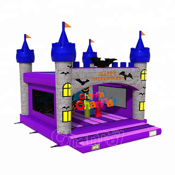 New design Commercial Halloween Combo bounce house water slide bouncer jumper cheap warehouse popular inflatable jumping castle