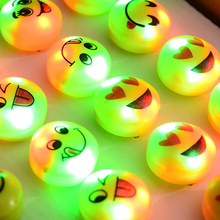 Led Flashing Rings Toy Colorful Glowing Smile Face Finger Ring Light Up Toys Kids Party Favors Cheap Gift