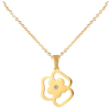 Cheap Fashion Flower Gemstone Pendant Jewellery Necklace,Latest Design 14K Gold Plate Saudi Necklace Jewelry