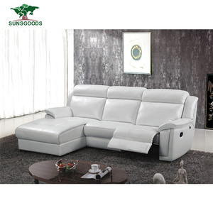 Natural And Comfortable Living Room Sofa Reclining Corner Sofa Bonded Leather Sofa