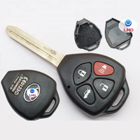 4 Buttons Smart car key cover for Toyota Car Key Shell Case Fob fits Corolla Camry Matrix Yaris RAV4