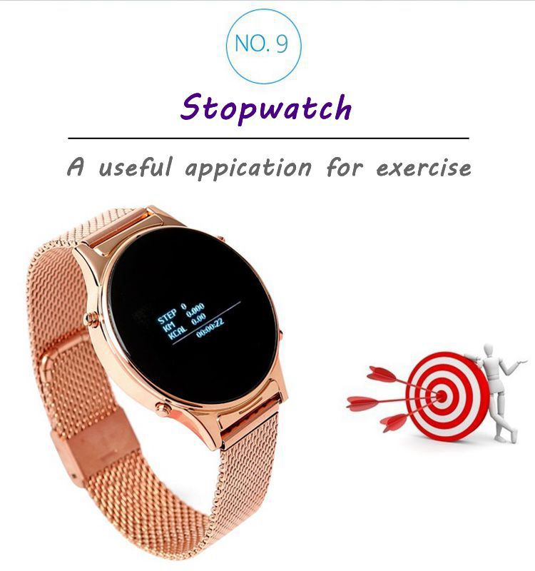 "0.97"" OLED Screen Speaker /MIC Bluetooth Smart Watch,Smart Bluetooth watch work with Androind mobile phone"