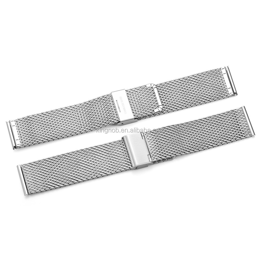 12mm to 26mm Metal Stainless Steel Watch Band Wire Shark Mesh Bracelet Link
