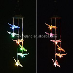 Kingland color changing butterfly lights for garden decoration solar butterfly lamp