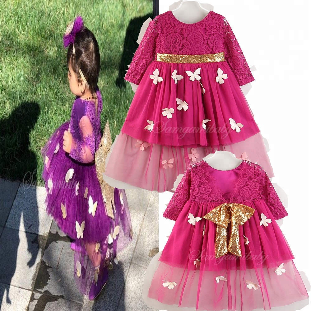 Baby Apparel Clothes Kids Lace Party Dress Girls Princess Dresses For Childrens Parties
