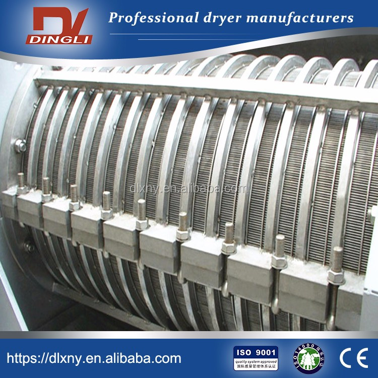 LWT350 DingLi LWT type Manufacturer Spiral Dewatering Roller Press Machine for Rice Wine Lees Dehydration