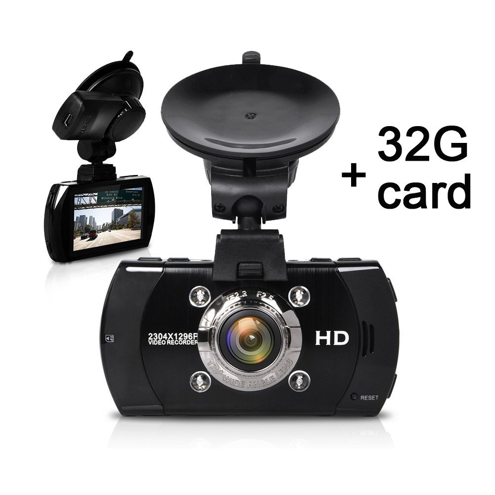 Car Dash Cam, [UPGRADED] SEYDI S4 FHD Car Dashboard Camera Cam Rcorder with 32G Card DVR 1296P Ambarella A7 LA70 with 170 Wide Angle Dashboard GPS G-Sensor WDR Superior Night Vision WDR Loop Recording