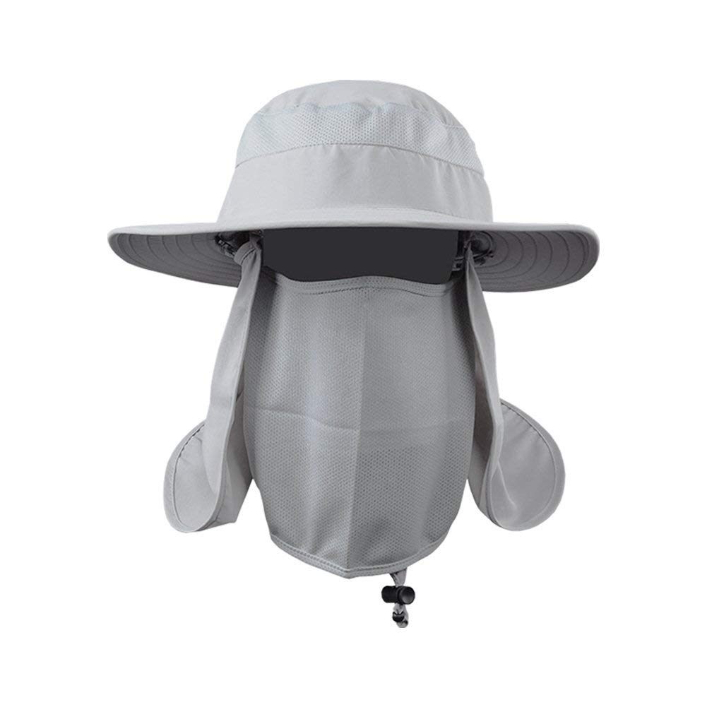 f3ee0743faf62 Fishing Farmer Wide Brim Cap Neck Face Flap Outdoor Work Sun Protection Hat  Men Fishing
