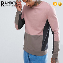 New design popular custom contrast sweatshirt for men