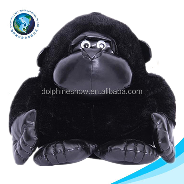 2015 Black orangutan animal toy stuffed monkey toy cute big soft stuffed plush orangutan