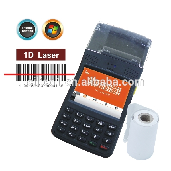 pda phone industrial data collector mobile within thermal printer and 3.5inch color screen touch screen handheld pda barcode sc