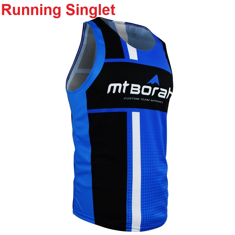Short sleeved wholesale sublimation race cut funny running shirt custom clothes