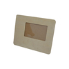 Eco-friendly unfinished MDF family wooden picture frame with standing rectangle wooden pictures photo frame
