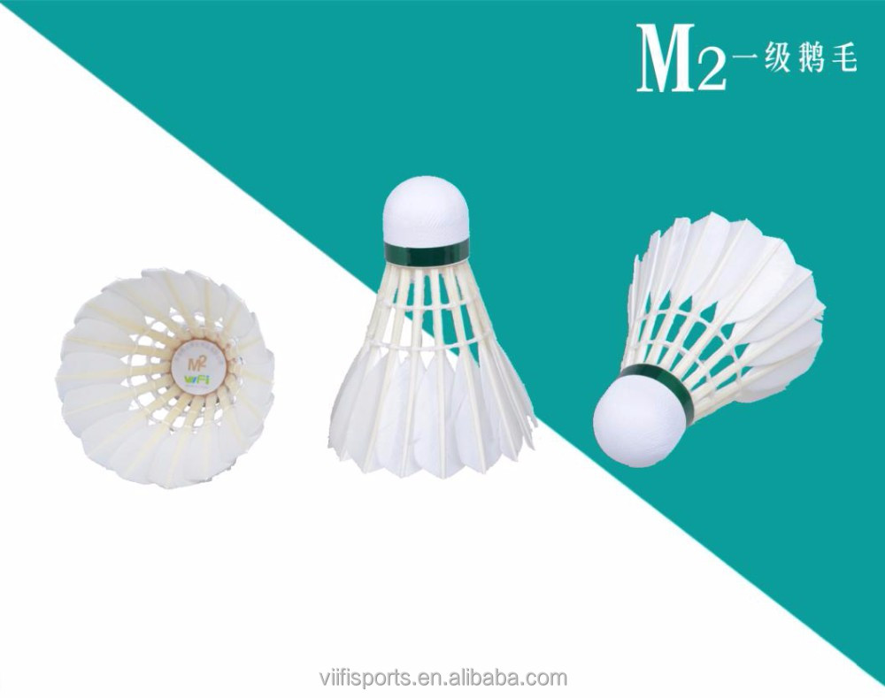 Hot selling international tournament good quality as rsl silver badminton shuttlecock